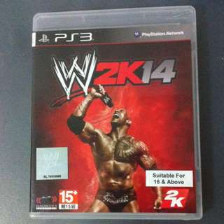 PRICE DROP!! WWE 2K14 PS3 (pre-owned)