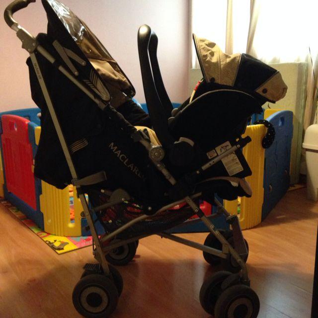 Maclaren Techno XLR stroller + Recaro Car Seat Travel System, Babies