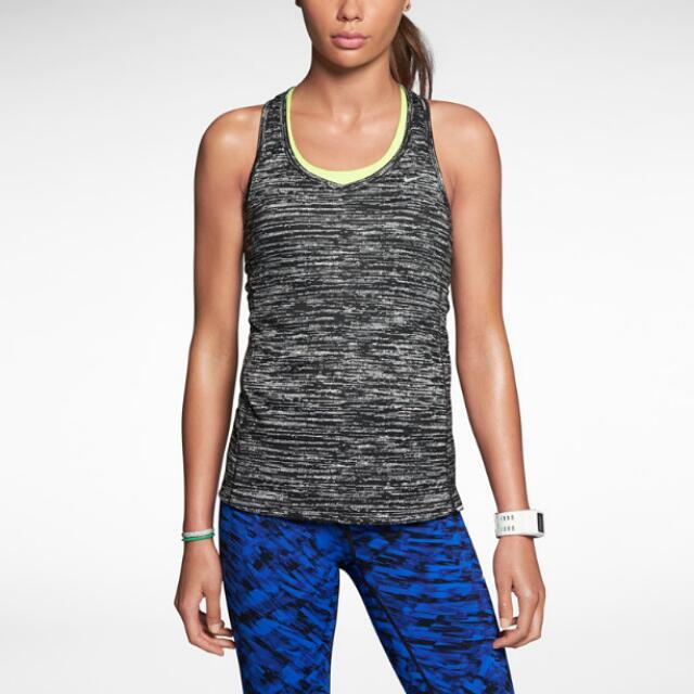 Nike Dri Fit Women's Running Miler Printed Tank Top Size L