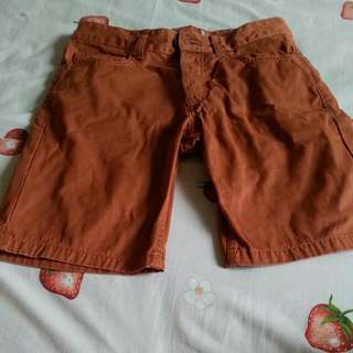 Topman brown/orange shorts