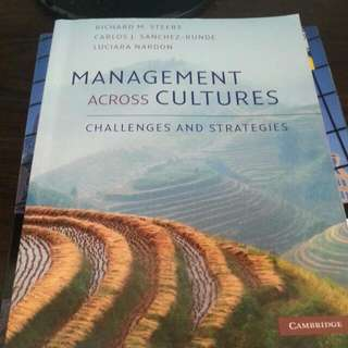 Management across culture - challenges and strategies