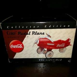 """Coke Pedal Plane - 1/18 Scale  3"""" X 2"""" X 2"""""""