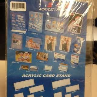 Acrylic A4 Card Stand
