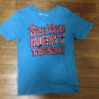 See You Next Tuesday Blue Graphic Tee