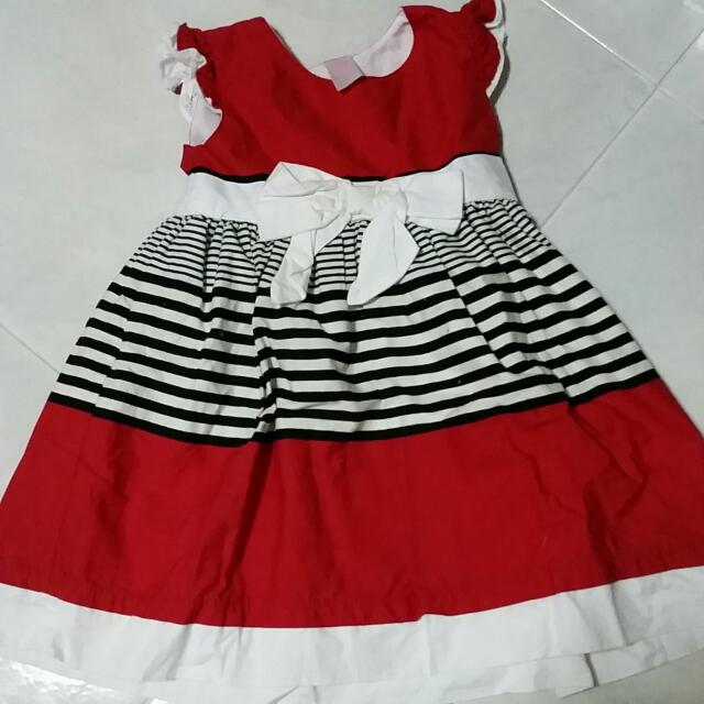 Carter's Red And White Dress