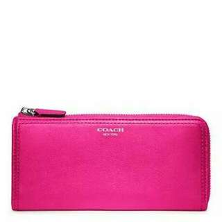 COACH LEATHER SLIM ZIP WALLET. STYLE: F48178
