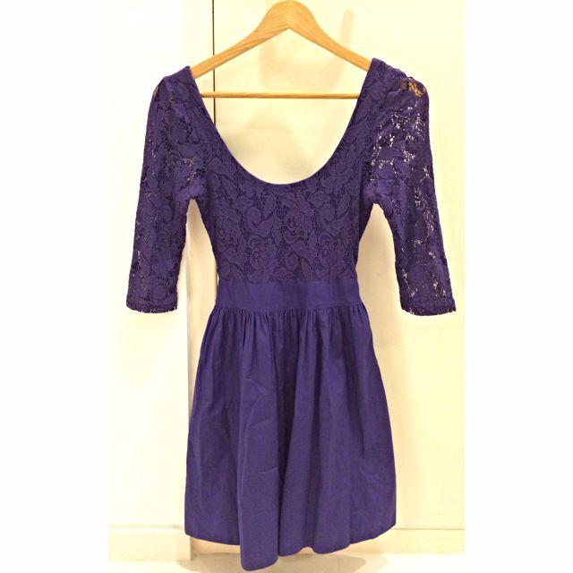 8e86922a92 Violet Lace Bodice Flared Dress (Topshop)