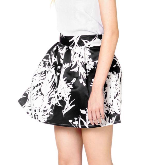 Monochrome Black White Tulip Skirt