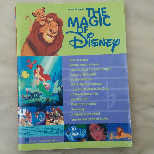 The Magic Of Disney Piano Score Book With Guitar Chords And
