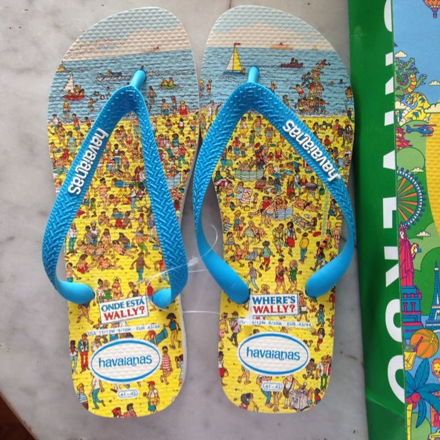 f2455ee683f835 Havaianas Limited Edition Where s Wally  Slippers