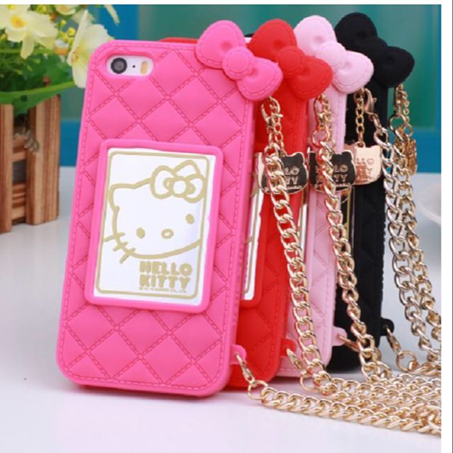 new product 9d776 6a4c9 Instock: Red Hello Kitty iPhone 6 / Hot pink iPhone 5/ Iphone 5S Samsung S5  /4/note Sizes Cover