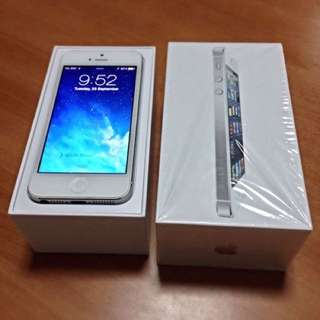 iPhone 5 with 64Gb.