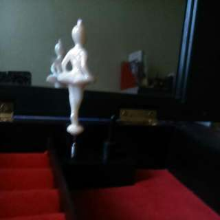 Vintage Jewellery Box With Music And Dancing Ballerina