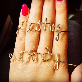 Customise Wire Name Bracelet