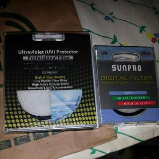 55mm and 62 mm filters jus 10$