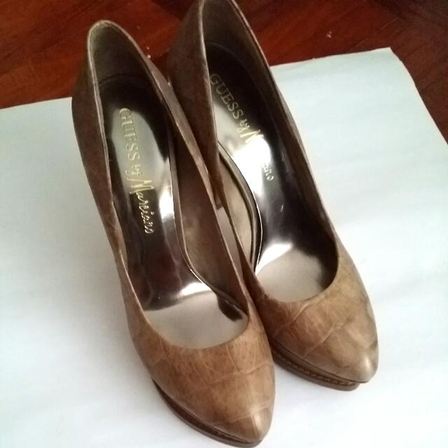 GUESS Snake Leather Heels