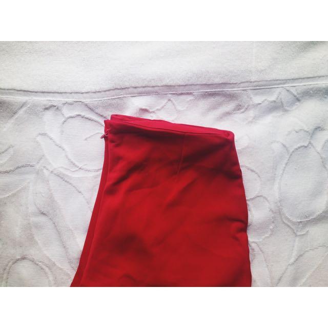 (BN) RED high waist