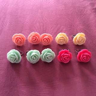 Rose Rings/ Adjustable Ring/ Wedding