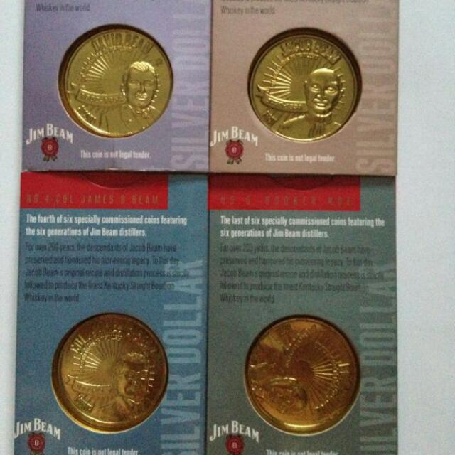 Jim Beam coins Collection, Vintage & Collectibles on Carousell