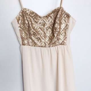 HNM Gold Sequin Dress