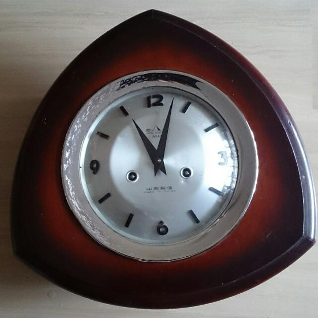 Vintage Odd Shape Winding Clock, Vintage & Collectibles on Carousell