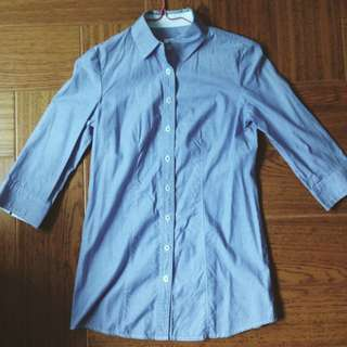 Collared Half Sleeved Button On Shirt