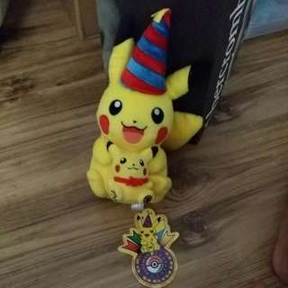 MWT 10th Anniversary Birthday Pikachu Plush