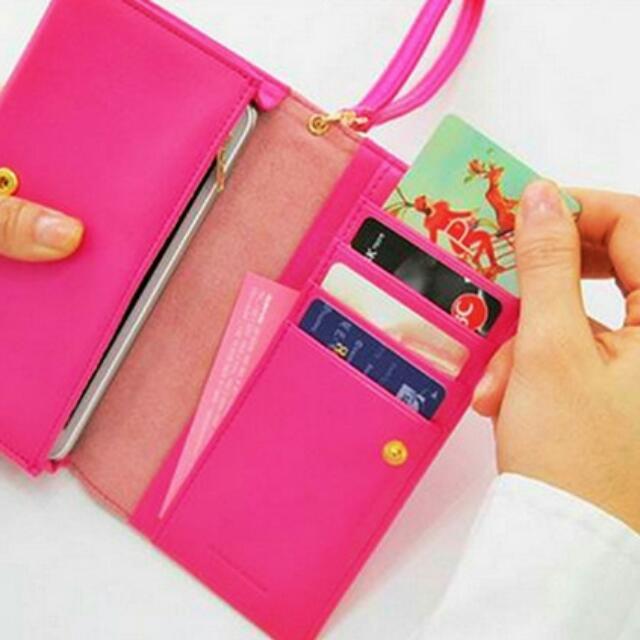 L.C Passe wallet (Hot Pink) (PENDING)