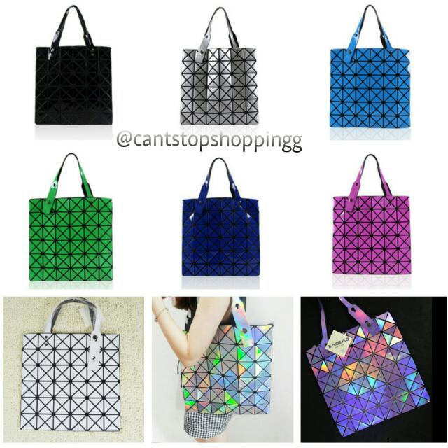 PO   NEW COLOURS  Issey Miyake Inspired Baobao Bao Bao Bag  Prism ... a60f895fd33d0