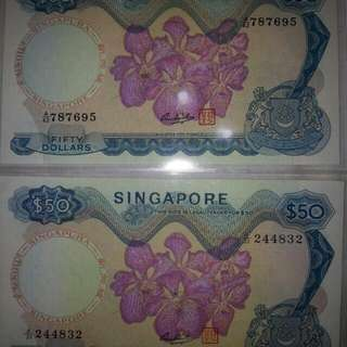 Old $50 Orchid Series Note.