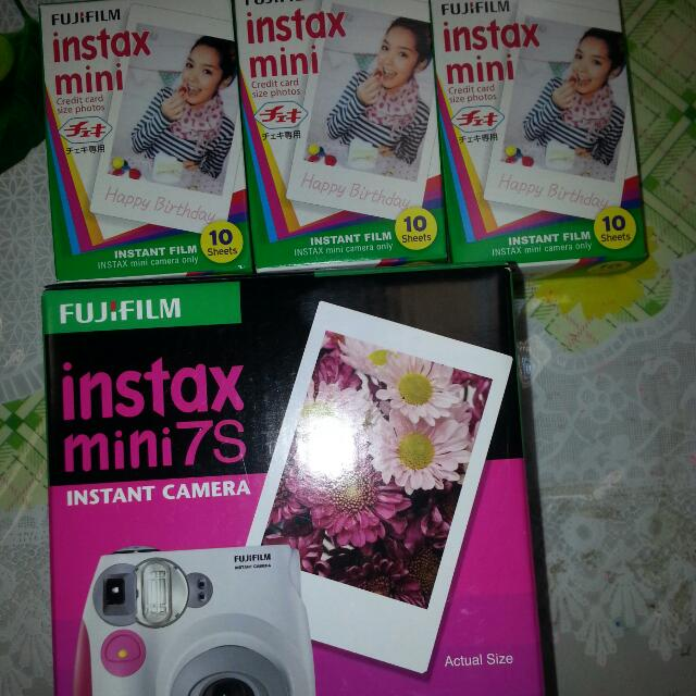 Fujifilm Instant Camera + 3 Packets If Instax Credit Card Size(reduced Price)