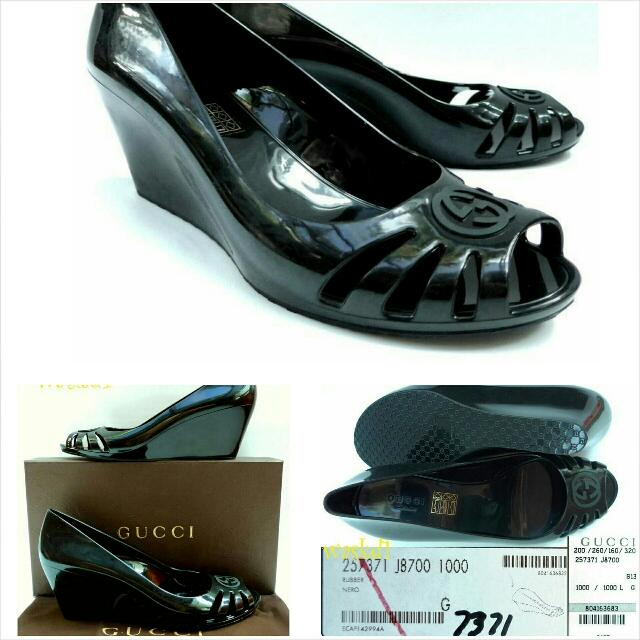 9c11b761531c Preorder Gucci Marola Jelly wedges