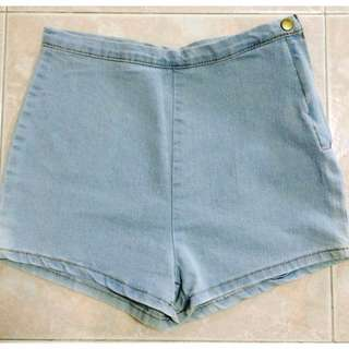 (Free postage) BNIP Inspired AA Denim Highwaist Shorts