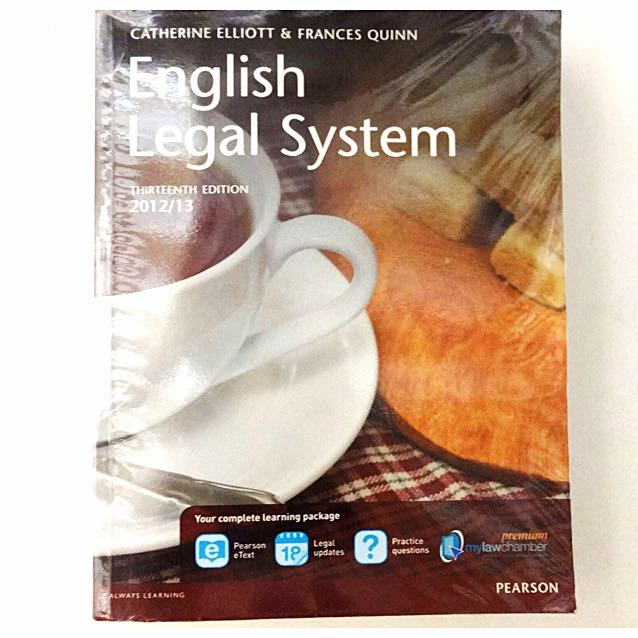 English Legal System By Catherine Elliot