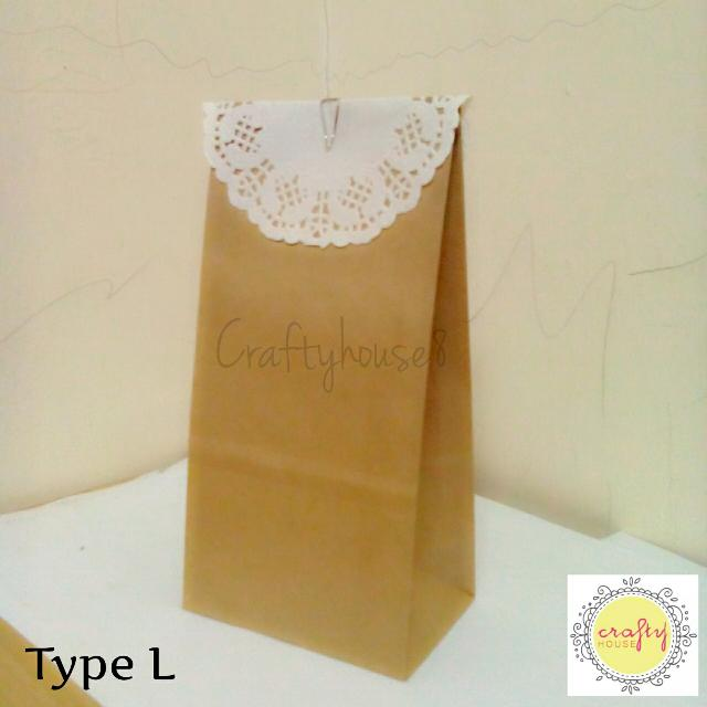 L Plain Color Paper Bag Design Craft On Carousell