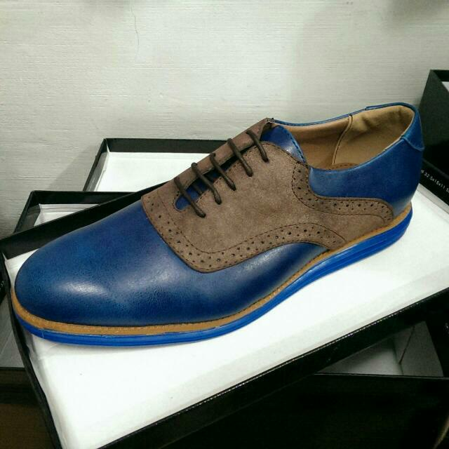 TOMAZ Faux Leather Men's Shoes  C084 Blue