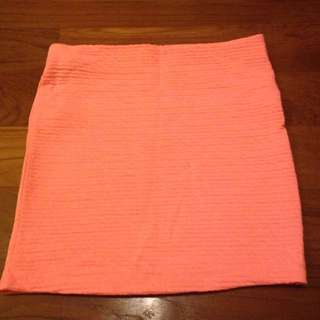 Labellavita Neon Peach Mini Skirt