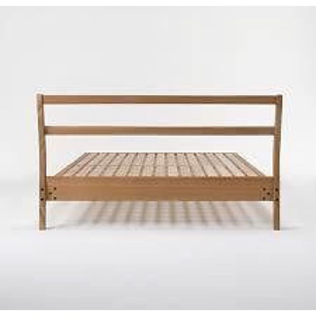 Muji Bentwood Ash Bed frame- For Queen Size Mattress, Furniture on ...