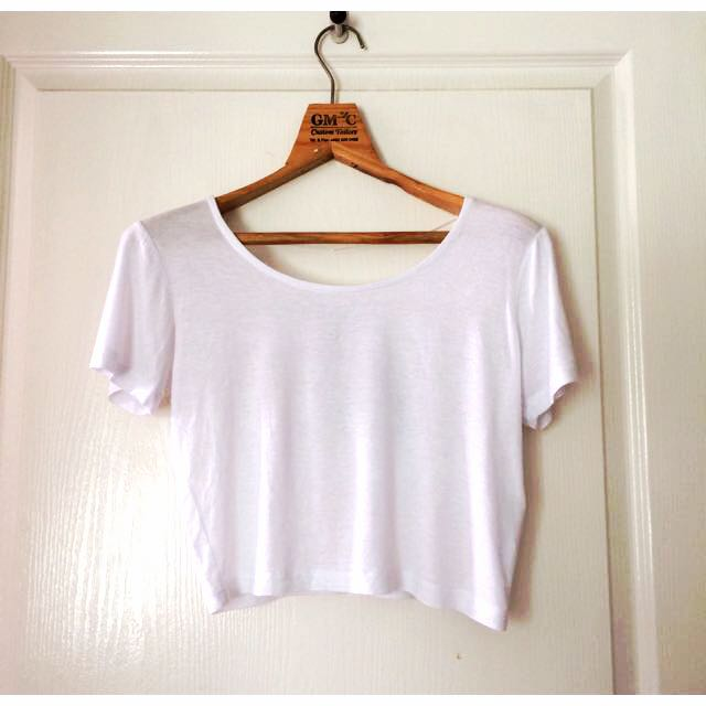 White Cotton On Crop Top