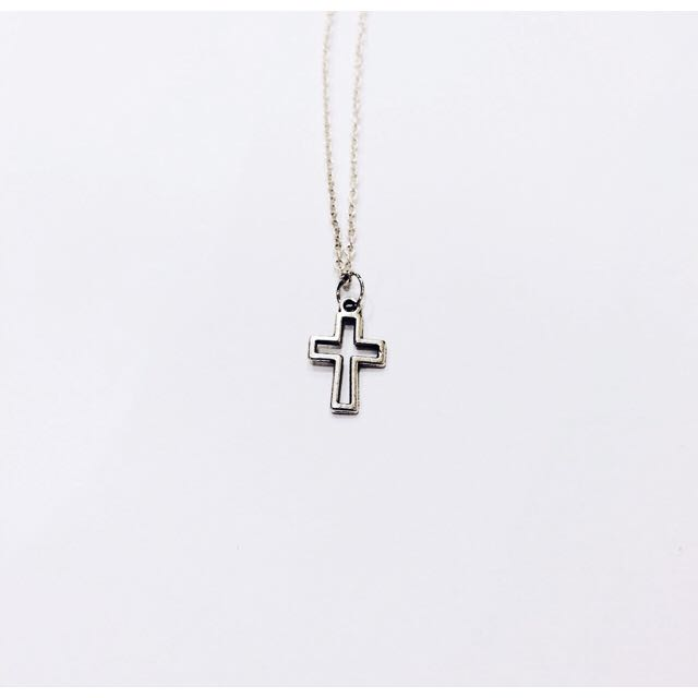 Hollow Cross Chain Necklace