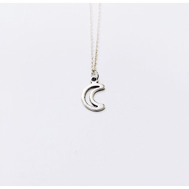 Hollow Moon Chain Necklace