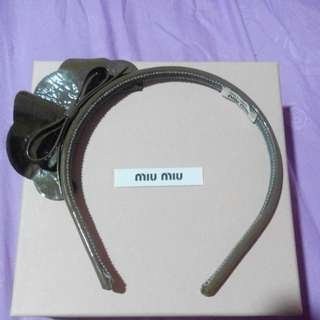 100% Authentic Miu Miu Handband