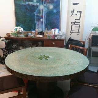 Large Traditional 12 Seater Table And Bookshelf
