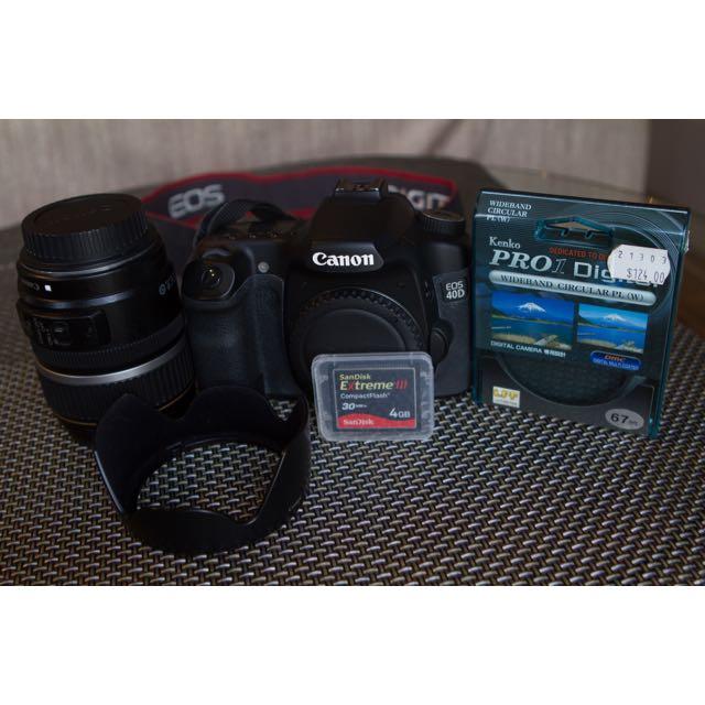 Canon 40D + 17-85mm IS USM Lens