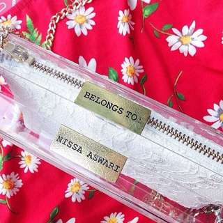 PERSPEX CLUTCH WITH MANY DESIGN OF POUCH