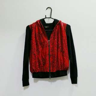 $5 TIMESALE Veeko Leopard Prints Red Bomber Jacket