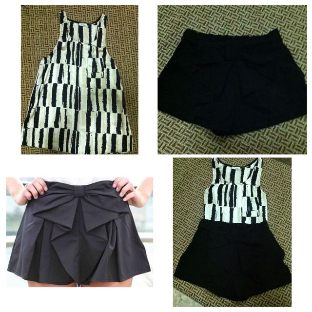 Black And White Top & Bow Short
