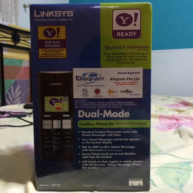 Dual Mode Cordless Phone For YAHOO messenger