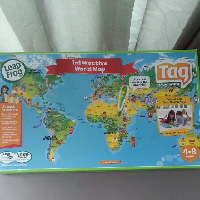 Leapfrog Interactive World Map.Leapfrog Interactive World Map For Tag Reading System Babies