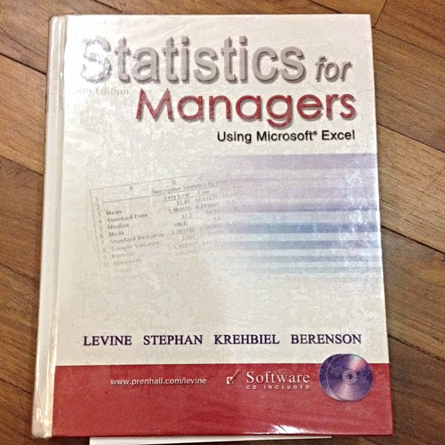 statistic for manager using microsoft excel books stationery